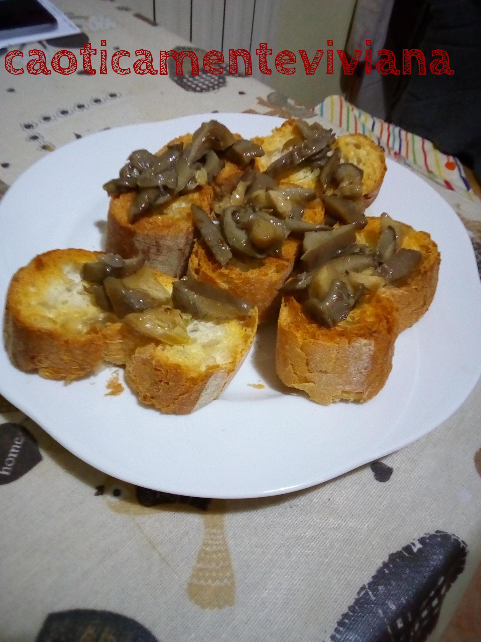 Bruschette ai funghi